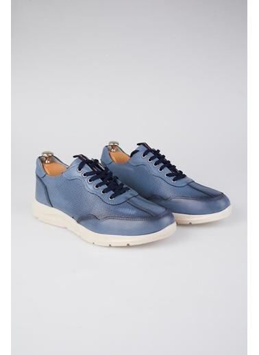 Tripy Hakiki Deri Sneakers Mavi